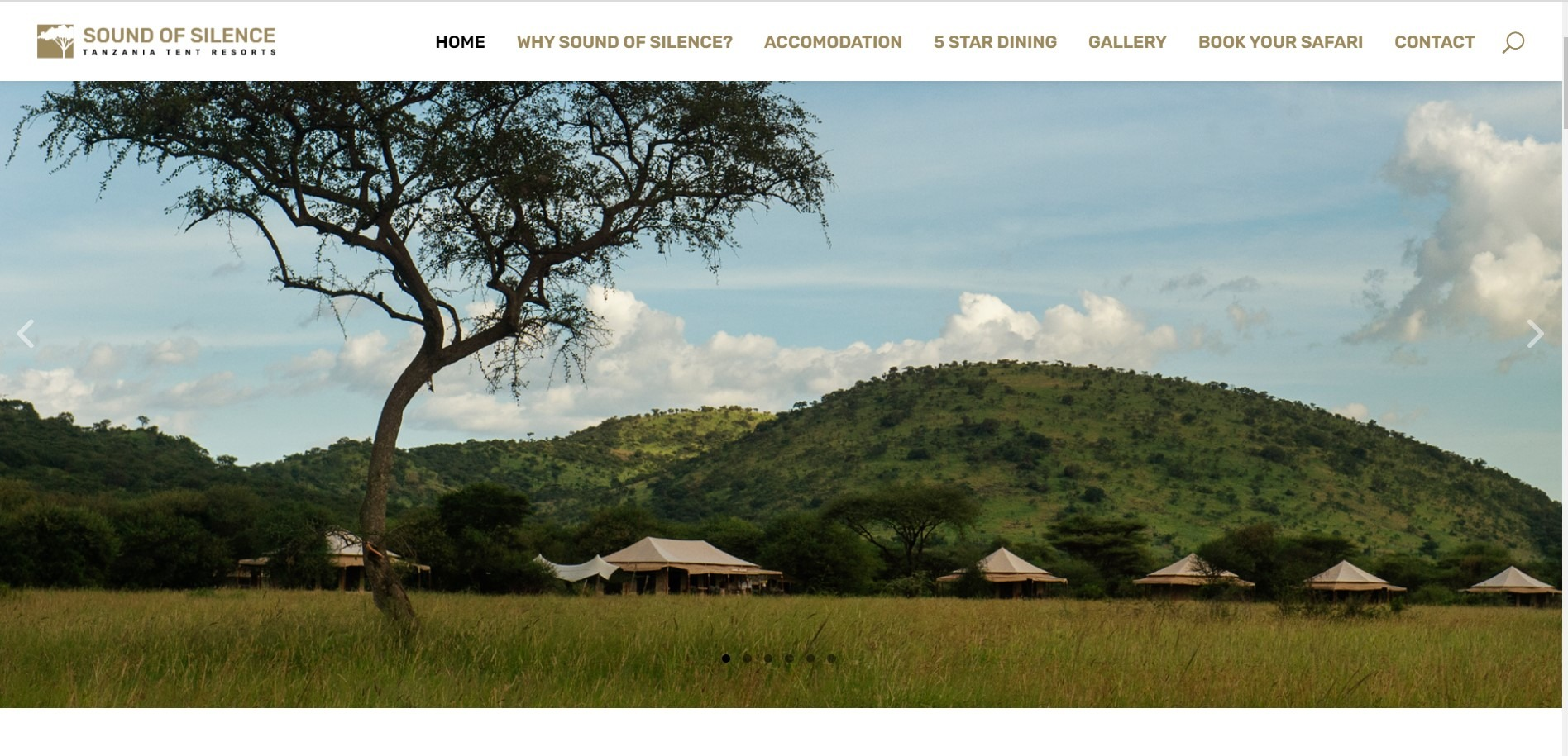 safari camp with activities and flights booking engine